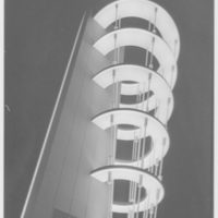 World's Fair night views. Westinghouse tower, detail