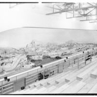 World's Fair, Railroad Building. Diorama, Railroads at work