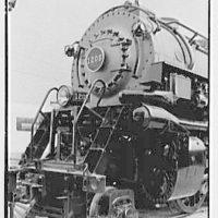 World's Fair, railroad exhibit locomotives. N & W 1206, front detail