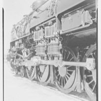 World's Fair, railroad exhibit locomotives. Pennsylvania R.R., detail