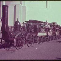 World's Fair, railroad pageant. DeWitt-Clinton locomotive I