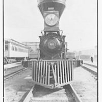 World's Fair, railroad pageant locomotives. Locomotive II, from front