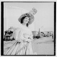 World's Fair, railroad pageant. Poke bonnet III