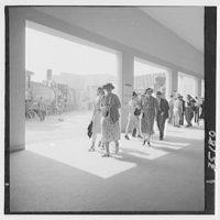 World's Fair, railroad pageant. Railroad Building corridor