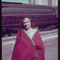 World's Fair, railroad pageant. Woman in American Indian costume