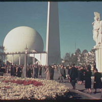World's Fair. Theme Center, Four victories of peace sculpture