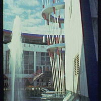 World's Fair. Westinghouse forecourt and Singing Tower of Light