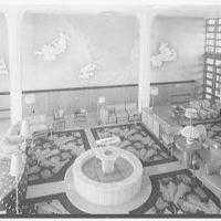Albion Hotel, Lincoln Rd., Miami Beach, Florida. Lobby, down from mezzanine I
