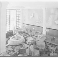 Albion Hotel, Lincoln Rd., Miami Beach, Florida. Lobby, down from mezzanine II