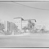 Aquinas High School, E. 182nd St. and Belmont Ave., Bronx, New York. General view from distance