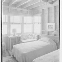 Bertram F. Willcox, residence in Pound Ridge, New York. Bedroom