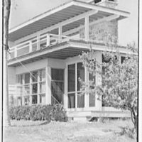 Bertram F. Willcox, residence in Pound Ridge, New York. Detail of rear facade