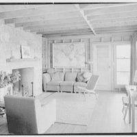 Bertram F. Willcox, residence in Pound Ridge, New York. Living room I