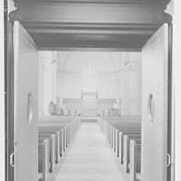 Brick Presbyterian Church, 91st St. and Park Ave., New York City. Chancel, through narthex doors