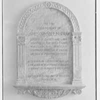 Brick Presbyterian Church, 91st St. and Park Ave., New York City. Murray tablet, in memorial entrance