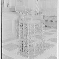 Brick Presbyterian Church, 91st St. and Park Ave., New York City. Portable pulpit, detail