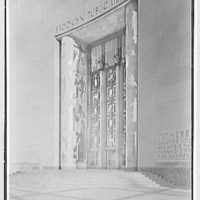 Brooklyn Public Library (Ingersoll Memorial), Park Circle, Brooklyn. Entrance detail I