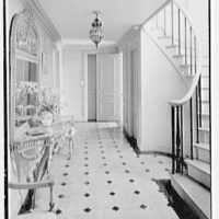 Charles E. Kock, residence on Stanwich Rd., Greenwich, Connecticut. Hall