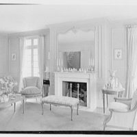 Charles E. Kock, residence on Stanwich Rd., Greenwich, Connecticut. Living room