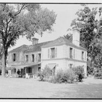 Charles E. Kock, residence on Stanwich Rd., Greenwich, Connecticut. Rear facade from right