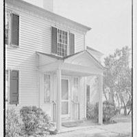 Charles L. Stillman, residence on Hall's Farm Rd., Fairfield, Connecticut. Entrance detail