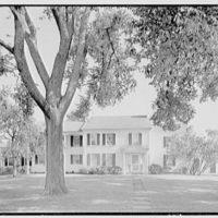 Charles L. Stillman, residence on Hall's Farm Rd., Fairfield, Connecticut. Entrance facade, from center