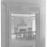 Charles S. Davis, residence at 850 Lake Trail, Palm Beach, Florida. Dining room through door