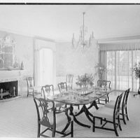 Charles S. Davis, residence at 850 Lake Trail, Palm Beach, Florida. Dining room II
