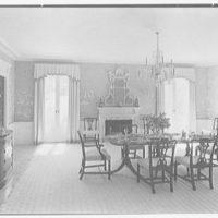 Charles S. Davis, residence at 850 Lake Trail, Palm Beach, Florida. Dining room I