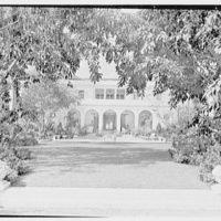 Charles S. Davis, residence at 850 Lake Trail, Palm Beach, Florida. East facade