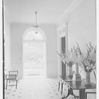 Charles S. Davis, residence at 850 Lake Trail, Palm Beach, Florida. Entrance hall, to outside door, open