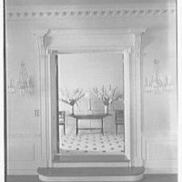 Charles S. Davis, residence at 850 Lake Trail, Palm Beach, Florida. Living room door, to entrance hall