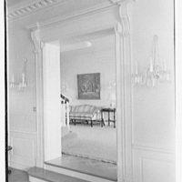 Charles S. Davis, residence at 850 Lake Trail, Palm Beach, Florida. Living room door, to hall sofa