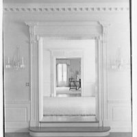 Charles S. Davis, residence at 850 Lake Trail, Palm Beach, Florida. Living room door, to dining room