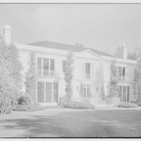 Charles S. Davis, residence in Palm Beach, Florida. Lake facade from left