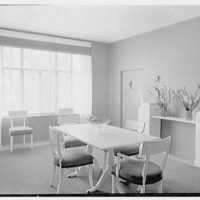 Charles S. Payson, residence in Hobe Sound, Florida. Dining room