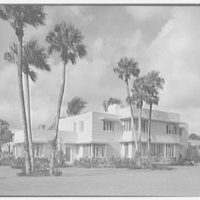 Charles S. Payson, residence in Hobe Sound, Florida. Entrance facade, horizontal, windows open