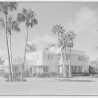 Charles S. Payson, residence in Hobe Sound, Florida. Entrance facade, horizontal, windows closed