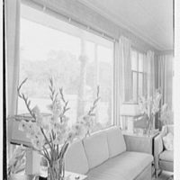 Charles S. Payson, residence in Hobe Sound, Florida. Living room, east window, sharp