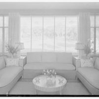 Charles S. Payson, residence in Hobe Sound, Florida. Living room, garden window grouping