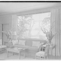 Charles S. Payson, residence in Hobe Sound, Florida. Living room, west (loggia) window