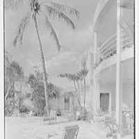 Charles S. Payson, residence in Hobe Sound, Florida. Patio detail, vertical