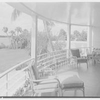 Charles S. Payson, residence in Hobe Sound, Florida. Upper porch