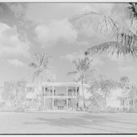 Charles S. Payson, residence in Hobe Sound, Florida. West facade, 3 p.m.