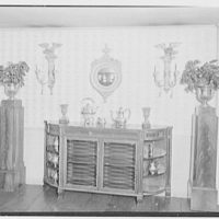 C.J. LaRoche, residence in Fairfield, Connecticut. Dining room commode and pedestals
