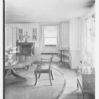 C.J. LaRoche, residence in Fairfield, Connecticut. Dining room from hall