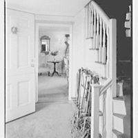 C.J. LaRoche, residence in Fairfield, Connecticut. Entrance hall and stair rail