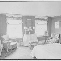 C.J. LaRoche, residence in Fairfield, Connecticut. Green guest room