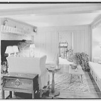 C.J. LaRoche, residence in Fairfield, Connecticut. Library fireplace