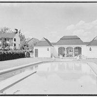 C.J. LaRoche, residence in Fairfield, Connecticut. Pool pavilion and house II